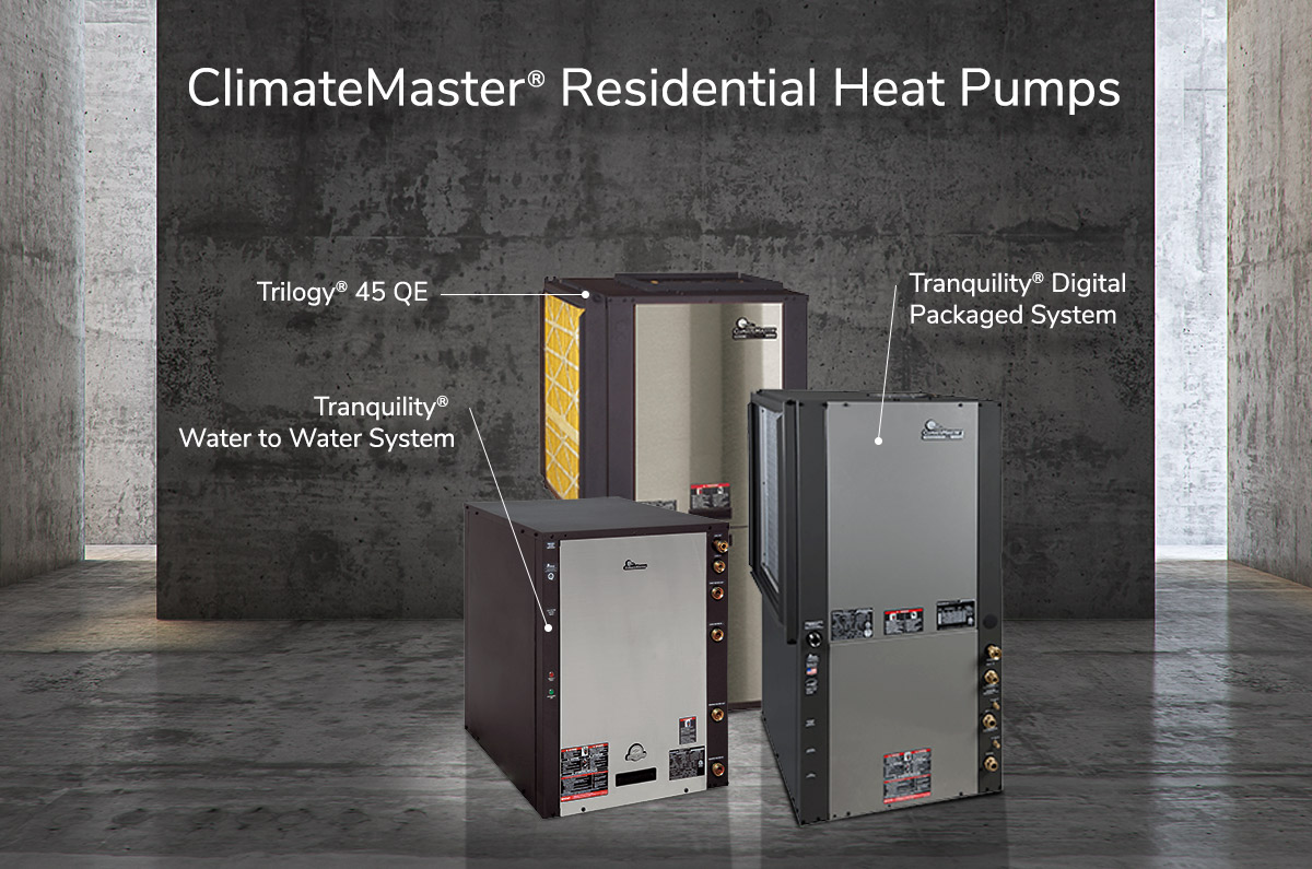 climatemaster residential heat pumps in warehouse